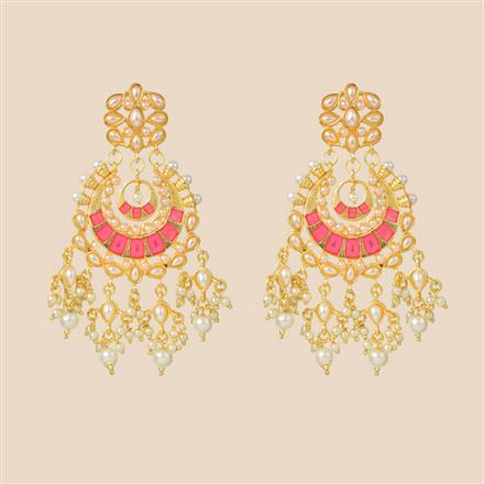 8294 Indo Western Classic Earring with gold plating