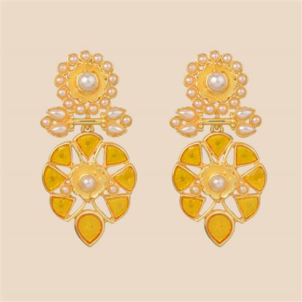 8295 Indo Western Classic Earring with gold plating