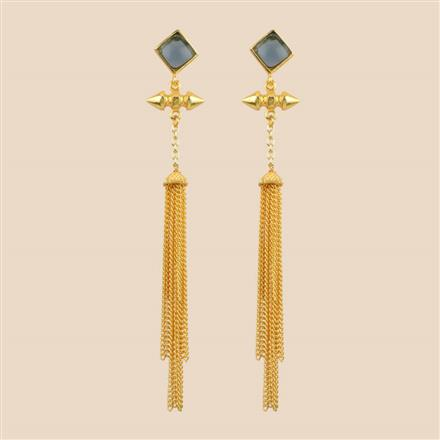 8296 Indo Western Long Earring with gold plating