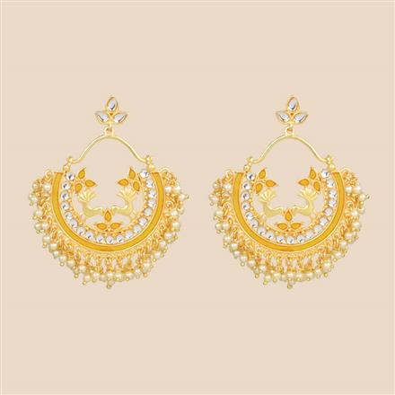 8297 Indo Western Chand Earring with gold plating