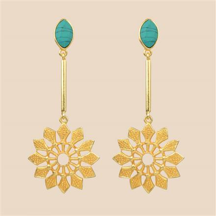 8298 Indo Western Long Earring with gold plating