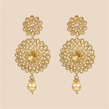 8299 Indo Western Classic Earring with mehndi plating