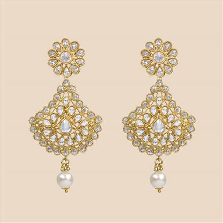 8300 Indo Western Classic Earring with mehndi plating