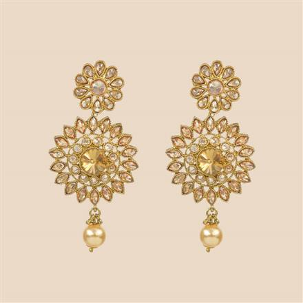 8301 Indo Western Classic Earring with mehndi plating