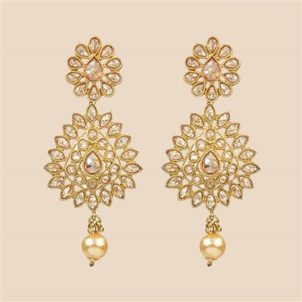 8303 Indo Western Classic Earring with mehndi plating