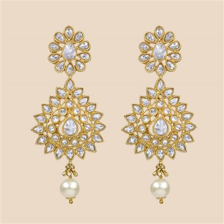 8304 Indo Western Classic Earring with mehndi plating