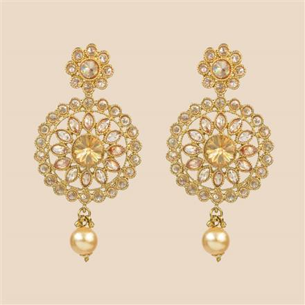 8305 Indo Western Classic Earring with mehndi plating
