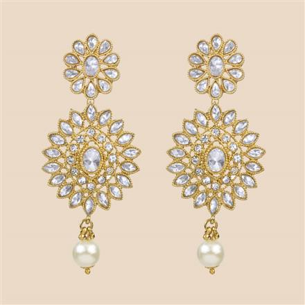 8307 Indo Western Classic Earring with mehndi plating