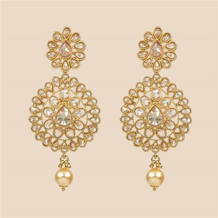 8308 Indo Western Classic Earring with mehndi plating