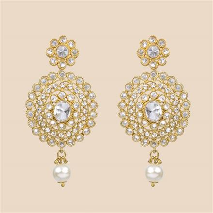8309 Indo Western Classic Earring with mehndi plating