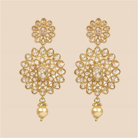 8312 Indo Western Classic Earring with mehndi plating