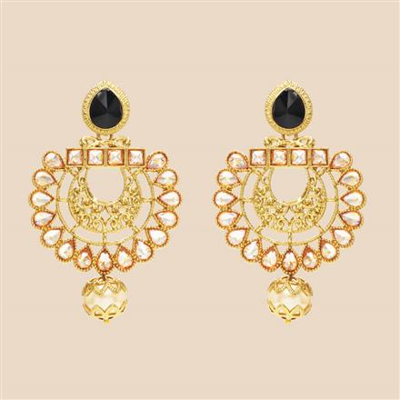 8336 Indo Western Classic Earring with mehndi plating