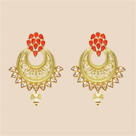 8341 Indo Western Classic Earring with mehndi plating