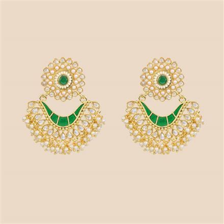 8354 Indo Western Classic Earring with gold plating