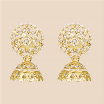 8355 Indo Western Jhumki with gold plating