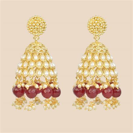 8357 Indo Western Jhumki with gold plating