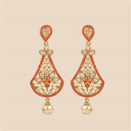 8393 Indo Western Classic Earring with mehndi plating