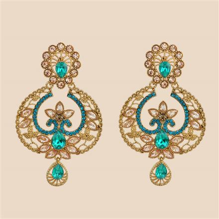 8394 Indo Western Classic Earring with mehndi plating