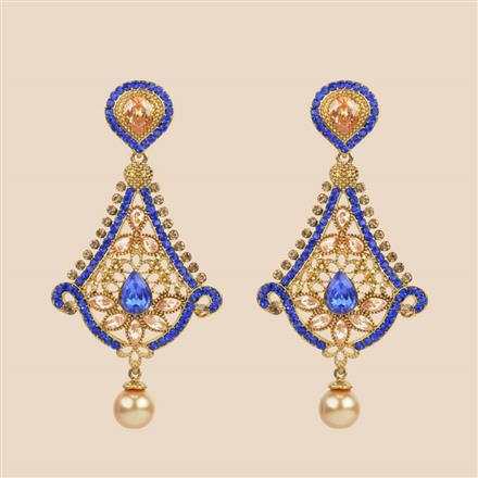 8395 Indo Western Classic Earring with mehndi plating