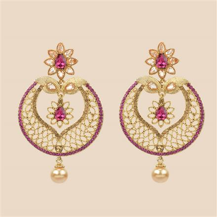 8396 Indo Western Classic Earring with mehndi plating