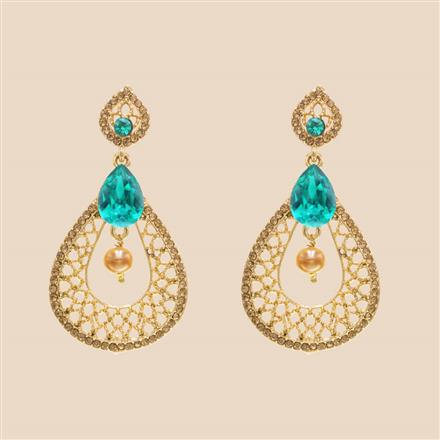 8398 Indo Western Classic Earring with mehndi plating