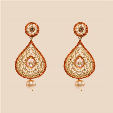 8399 Indo Western Classic Earring with mehndi plating