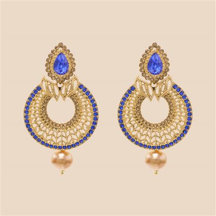 8400 Indo Western Classic Earring with mehndi plating