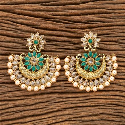 8433 Indo Western Chand Earring with Mehndi plating