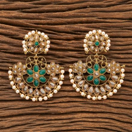 8434 Indo Western Chand Earring with mehndi plating