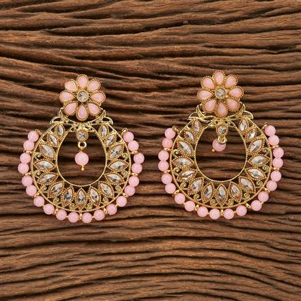 8435 Indo Western Chand Earring with mehndi plating