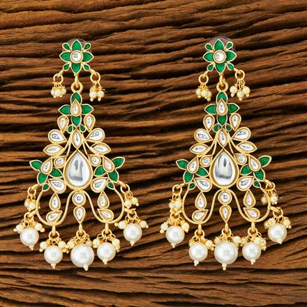 9086 Indo Western Classic Earring with gold plating
