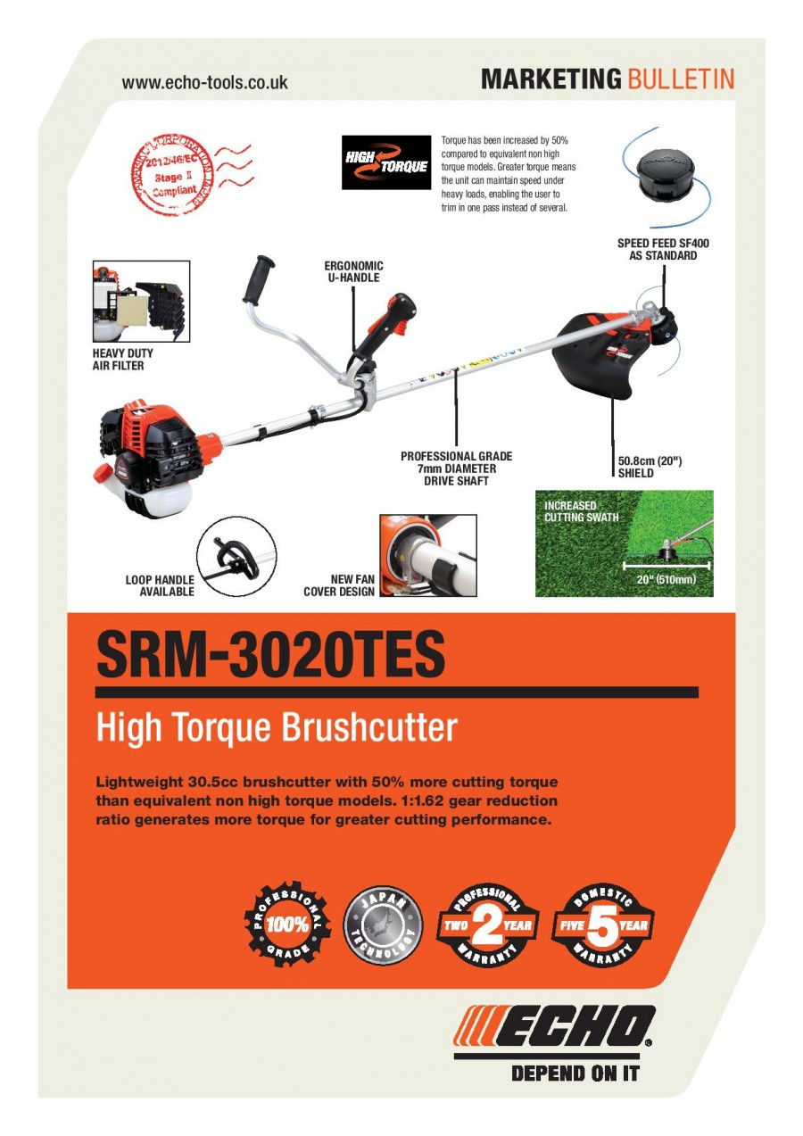 ECHO SRM-3020TES Brochure
