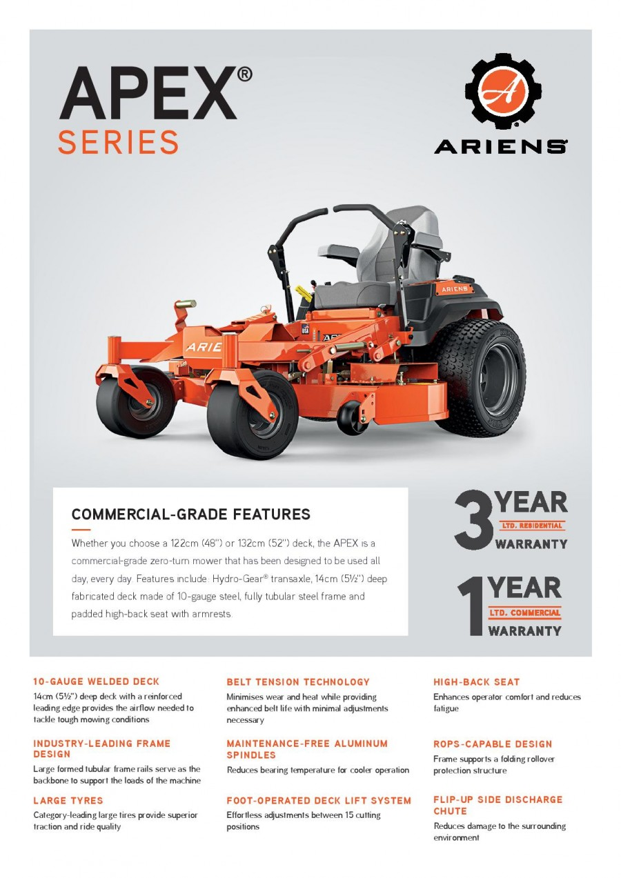 Ariens Apex Brochure