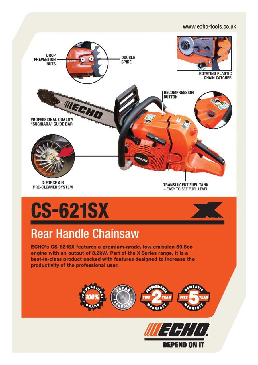 ECHO CS-621SX Brochure