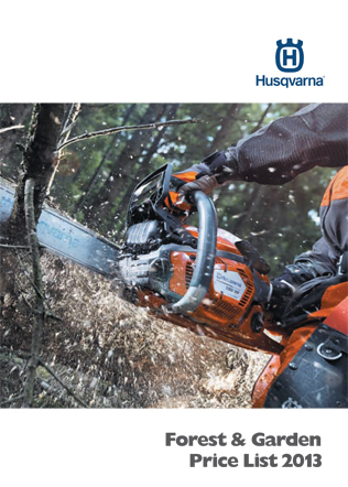Husqvarna Forest & Garden Price List 2013 Brochure