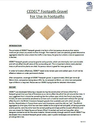 CEDEC® Footpath Gravels Brochure