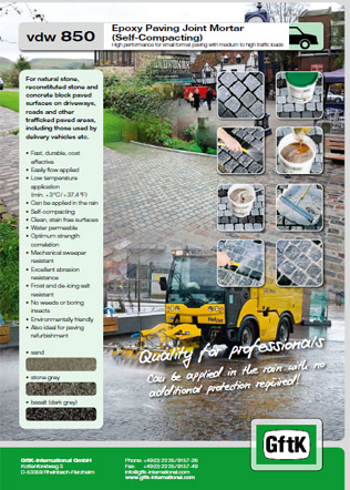 Epoxy Paving Joint Mortar  (Self-Compacting) Brochure