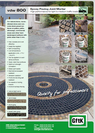 Epoxy Paving Joint Mortar Brochure
