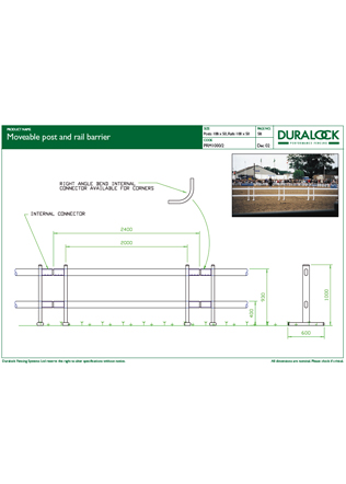 Moveable Post and Rail Barrier Brochure