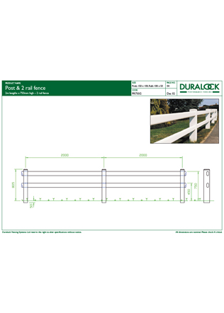 Post & 2 rail fence Brochure
