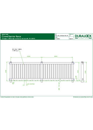 Crowd Barrier Fence Brochure