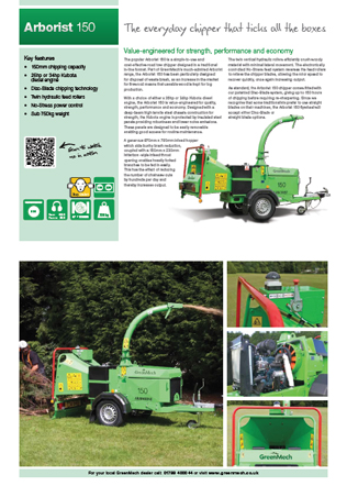 Arborist 150 Chipper & Shredder Brochure