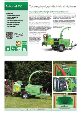Arborist 150 Chipper & Shredder Brochure