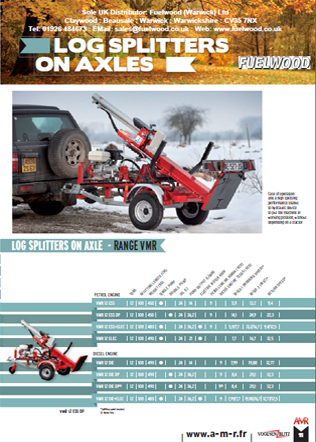 Log Splitters On Axles - Range VMR Brochure