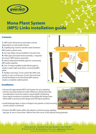 Mona Plant System (MPS) Links installation guide Brochure