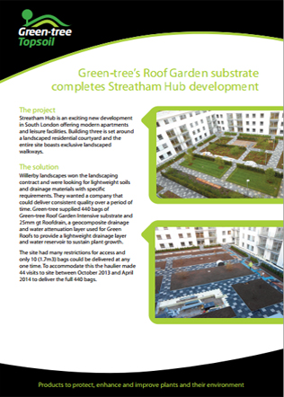 Green-tree's Roof Garden substrate completes Streatham Hub development Brochure