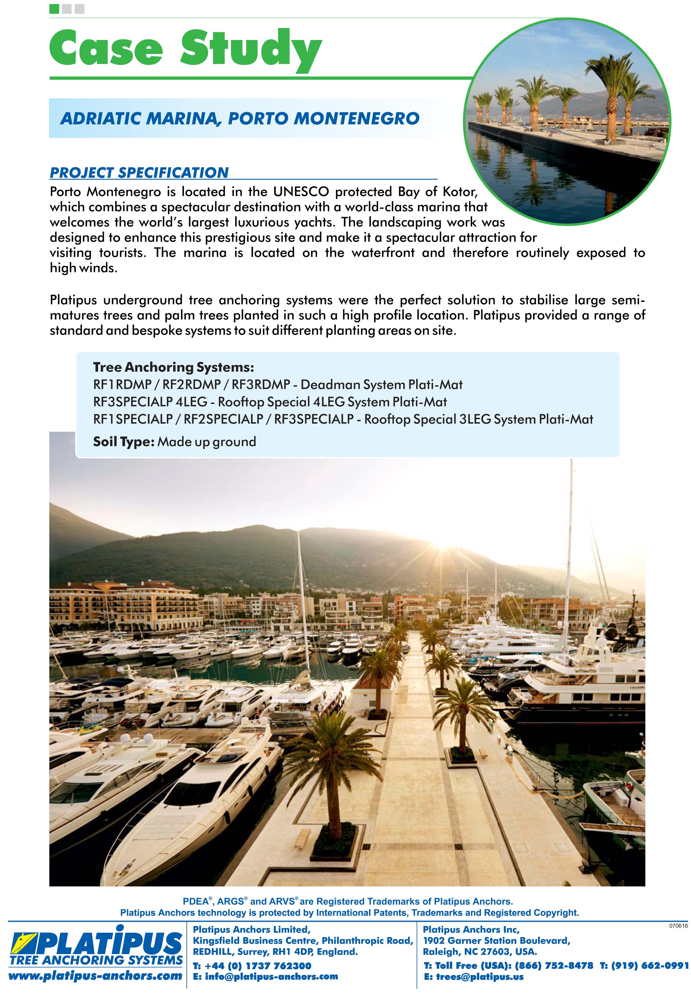Case Study - Adriatic Marina, Porto Montenegro Brochure