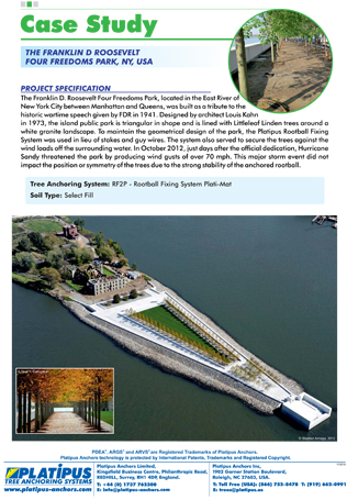 Case Study - Four Freedoms Park NY Brochure