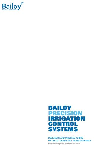 Bailoy Precision Irrigation Control Systems Brochure