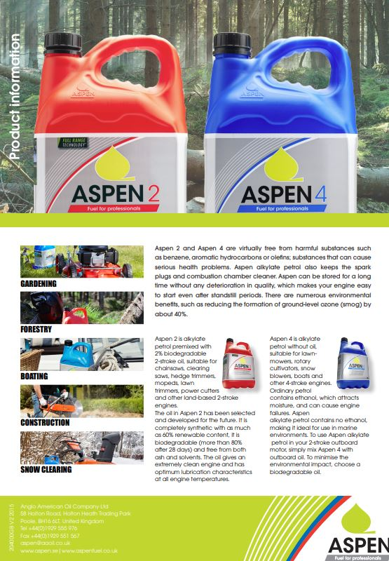 Aspen Product information Brochure